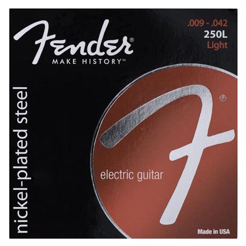 """Struny pro elektrickou kytaru Fender Tvrdost 009""""/ 042"""""""