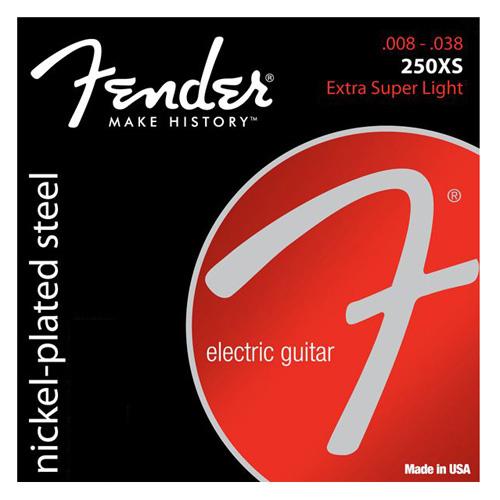 """Struny pro elektrickou kytaru Fender Tvrdost 008""""/ 038"""""""