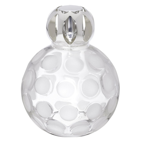 Katalytická lampa Lampe Berger Paris Sphere givrée, čirá, matná, výška 13 cm