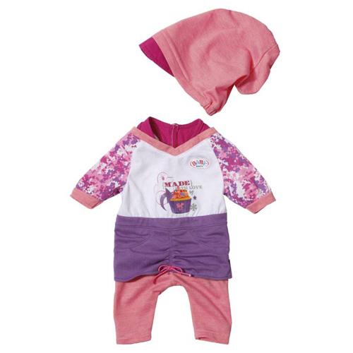 Zapf Creation Oblečení s čepičkou Zapf BABY born®, růžovo/fialová