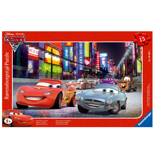 Puzzle Ravensburger Závod v Japonsku Auta, 15 dílků