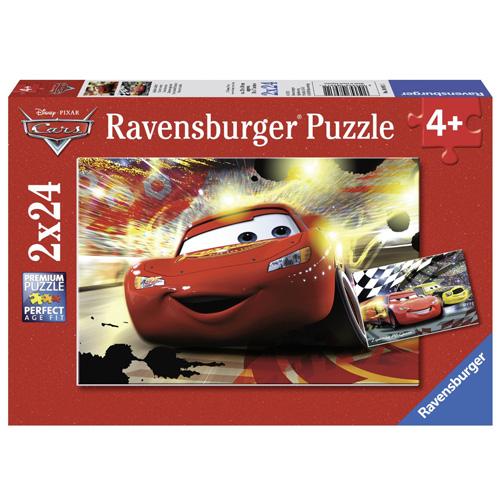 Puzzle Ravensburger Disney Auta, 2 x 24 dílků