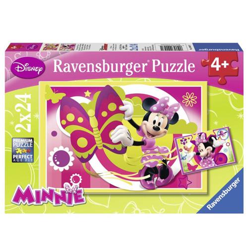 Puzzle Ravensburger Jeden den s Minnie, 2 x 24 dílků