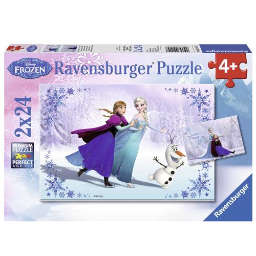 Puzzle Ravensburger Ledové království, 2 x 24 dílků