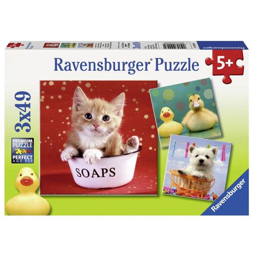 Puzzle Ravensburger Roztomilá zvířátka, 3 x 49 dílků