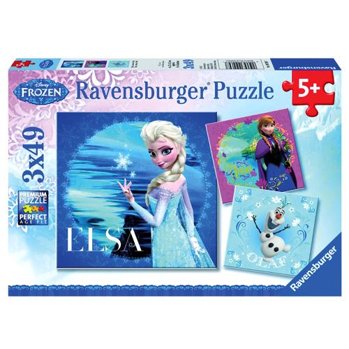 Puzzle Ravensburger Ledové království, 3 x 49 dílků