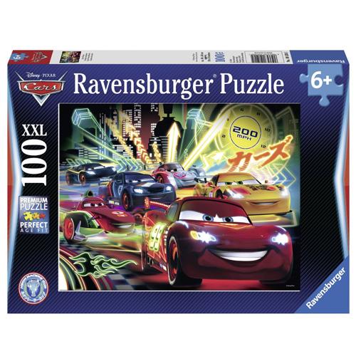 Puzzle Ravensburger Auta neon, 100 dílků XXL