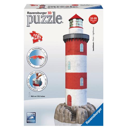 3D Puzzle Ravensburger Maják v příboji, 216 dílků