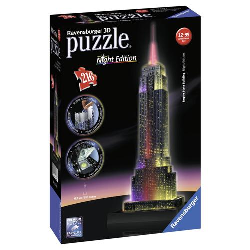 3D Puzzle Ravensburger Empire State Building, 216 dílků Noční edice