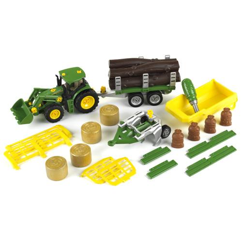 Traktor Klein John Deere - s přívěsy a doplňky
