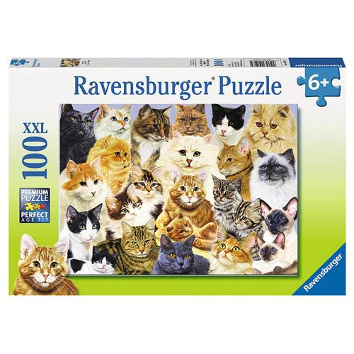 Puzzle Ravensburger Kočičí chlouba, 100 dílků XXL