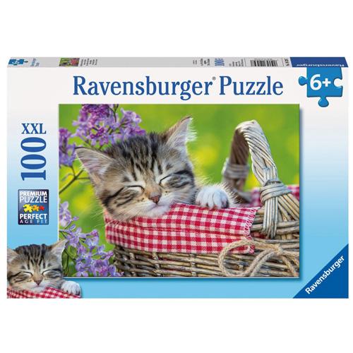 Puzzle Ravensburger Spící koťátko, 100 dílků XXL