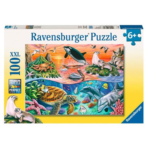 Puzzle Ravensburger Pestrý oceán, 100 dílků XXL