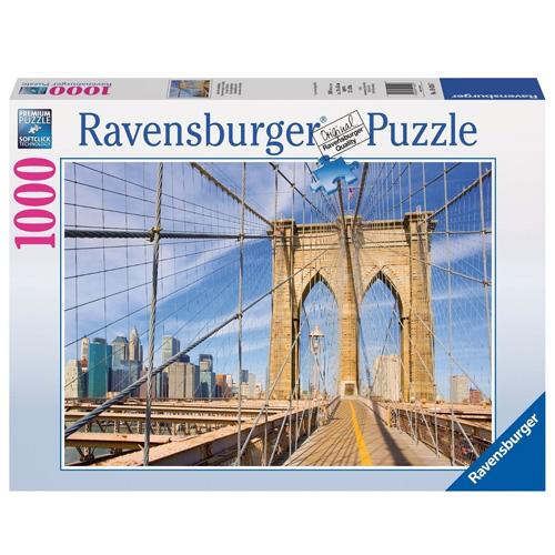 Puzzle Ravensburger Pohled z Brooklynského mostu, 1000 dílků