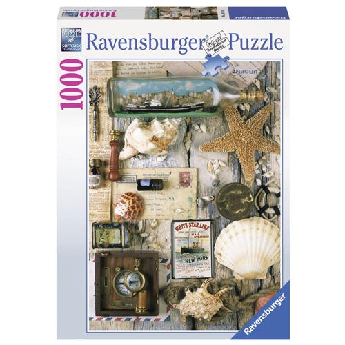 Puzzle Ravensburger Mořské suvenýry, 1000 dílků
