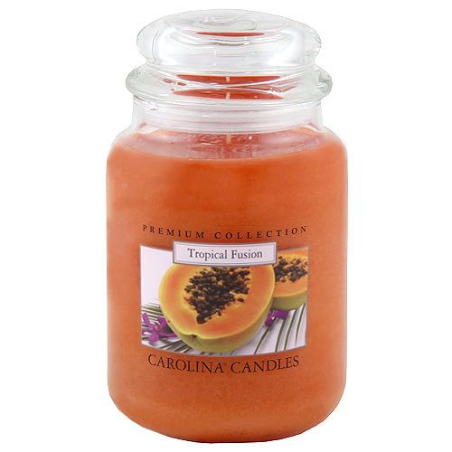 Svíčka skleněná dóza Carolina Candles Tropické ovoce, 623 g