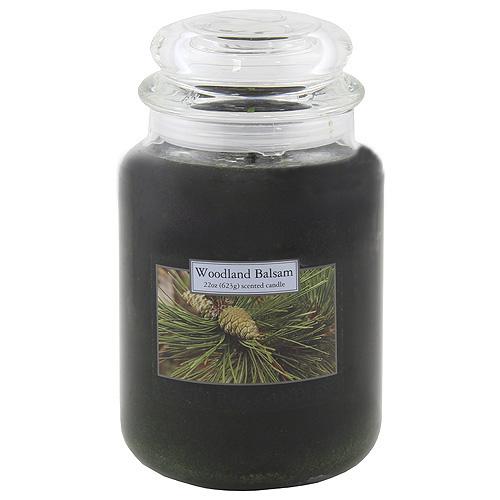 Svíčka skleněná dóza Carolina Candles Dřevo a jehličí, 623 g