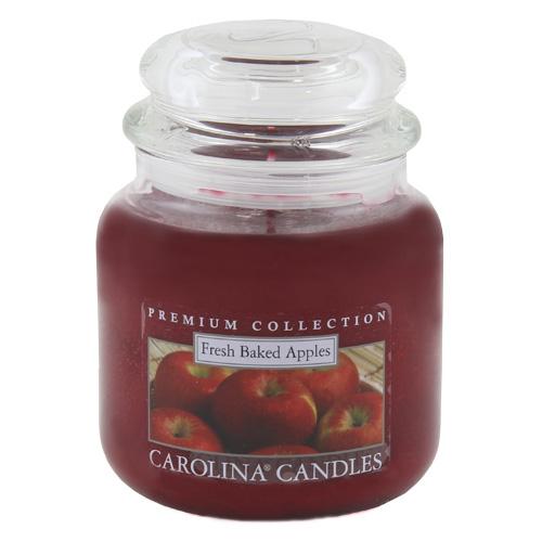 Svíčka skleněná dóza Carolina Candles Čerstvá pečená jablka, 425 g