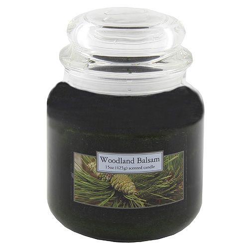 Svíčka skleněná dóza Carolina Candles Dřevo a jehličí, 425 g