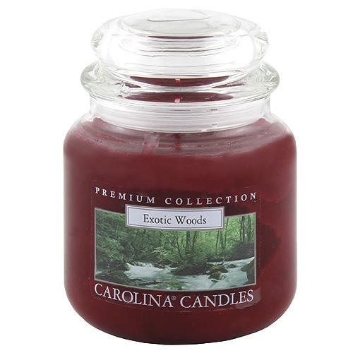 Svíčka skleněná dóza Carolina Candles Exotické dřevo, 425 g
