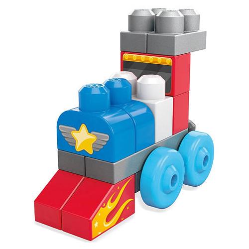 Mattel Kostky Mega Bloks 20 ks - stavební kostky s autíčky