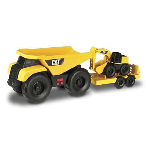 Nákladní auto Nikko Caterpillar s přívěsem a bagrem