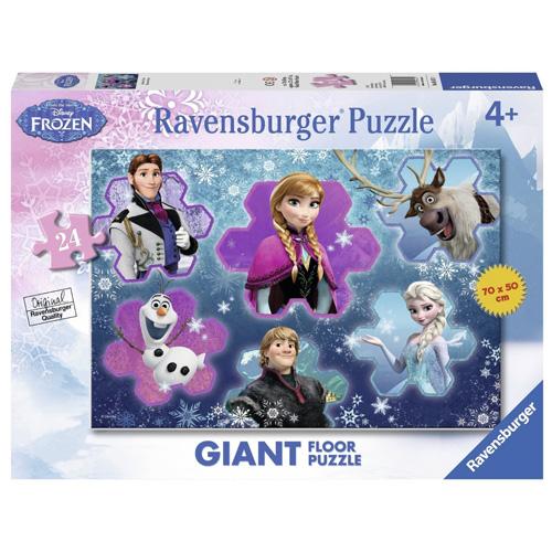 Puzzle Ravensburger Ledové království - vločky, podlahové - 24 dílků