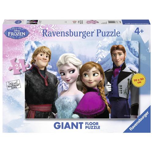 Puzzle Ravensburger Ledové království - 4 postavy, podlahové - 24 dílků