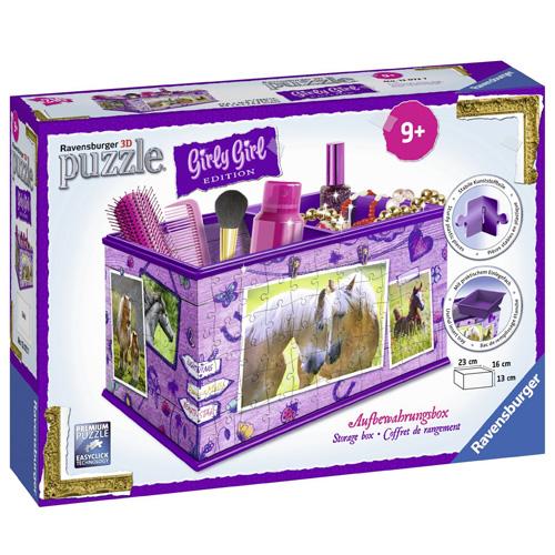 3D Puzzle Ravensburger Úložný box, 216 dílků - Kůň