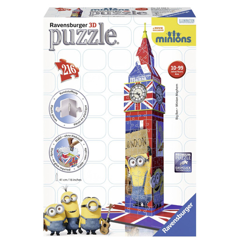 3D Puzzle Ravensburger Big Ben Mimoňové, 216 dílků