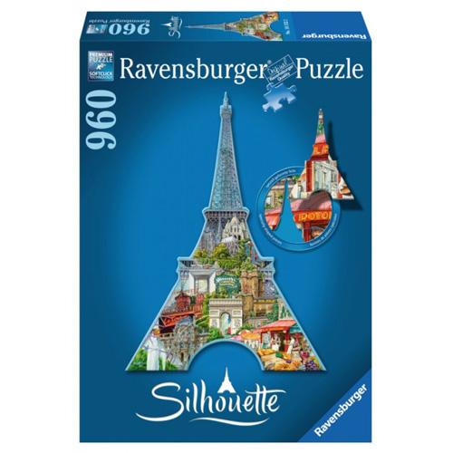 Puzzle Ravensburger Eiffelova věž, Paříž - tvarové, 960 dílků