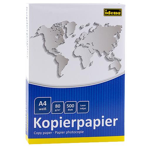 Spotřeba Papír do tiskárny A4 Idena 500 Blatt,weiss,EU Label