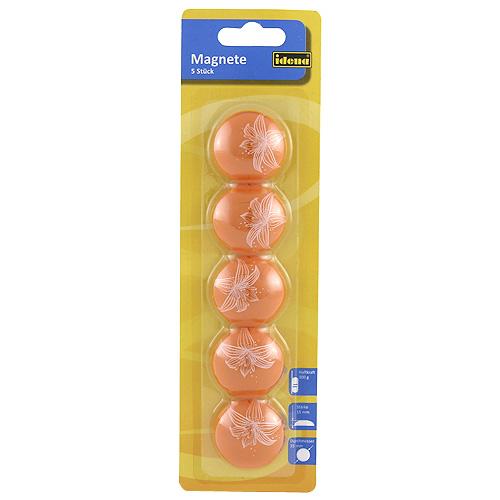 Magnety Idena oranžové 5ks