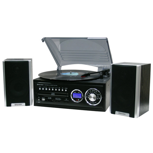 Gramofon Roadstar WOODEN HI-FI SYS WITH MINI TT-MP3 CD-ANALOGUE AM/FM RADIO-US