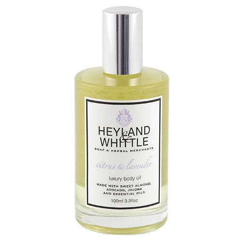Masážní olej Heyland & Whittle Citrusy a levandule, 100 ml