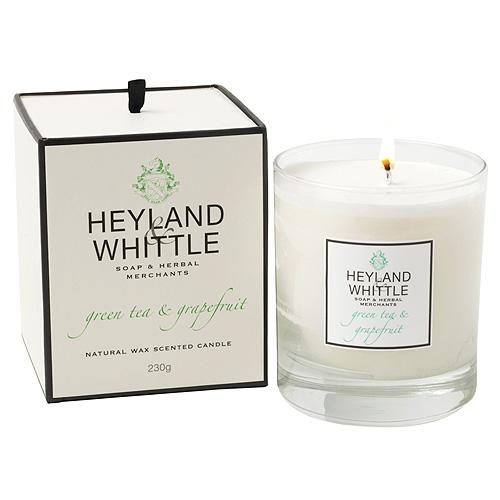 Svíčka skleněná váza Heyland & Whittle Zelený čaj a grapefruit, 230 g