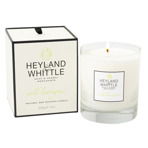 Svíčka skleněná váza Heyland & Whittle Divoká citrónová tráva, 230 g