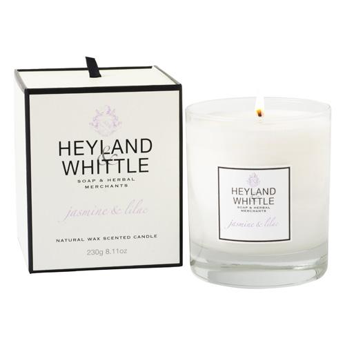 Svíčka skleněná váza Heyland & Whittle Jasmín a šeřík, 230 g