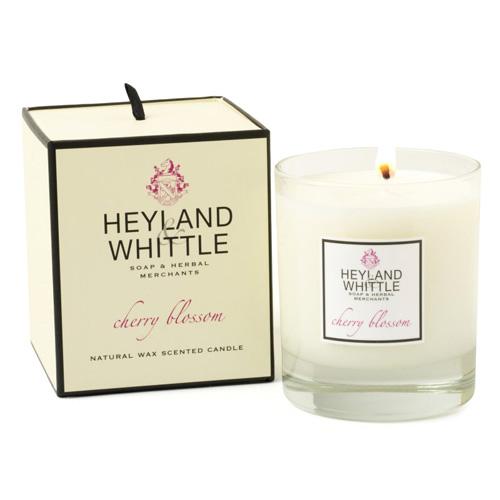 Svíčka skleněná váza Heyland & Whittle Třešňový květ, 230 g