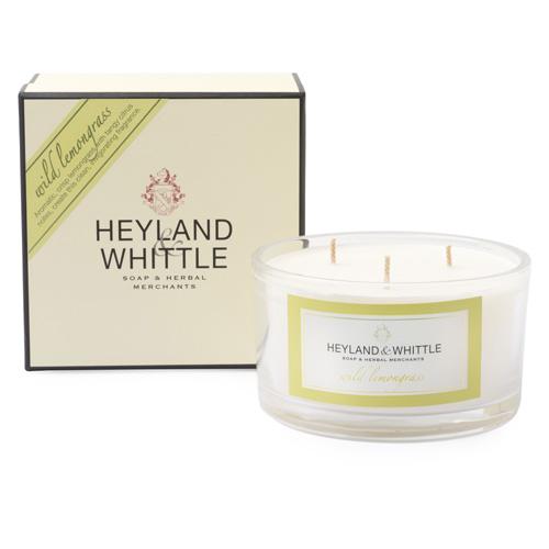 Svíčka dekorativní váza Heyland & Whittle Divoká citrónová tráva, 480 g