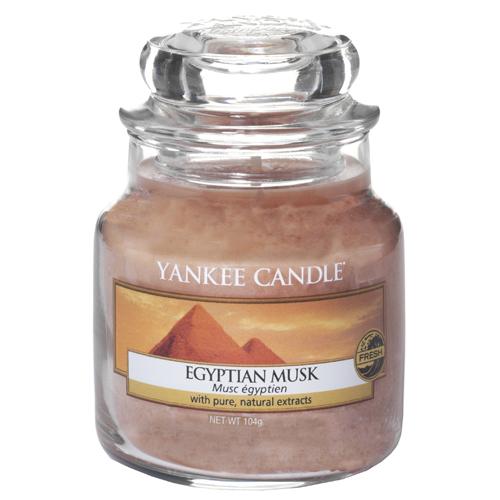 Svíčka ve skleněné dóze Yankee Candle Egyptské pižmo, 104 g
