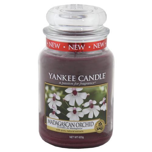 Svíčka ve skleněné dóze Yankee Candle Orchidej z Madagaskaru, 623 g