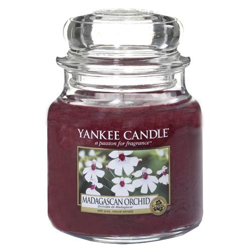 Svíčka ve skleněné dóze Yankee Candle Orchidej z Madagaskaru, 410 g