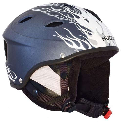 Lyžařská helma Hudora HBX Velikost M/modrá s plameny