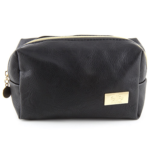 Kosmetická taška Elite Models Černá se zlatým zipem