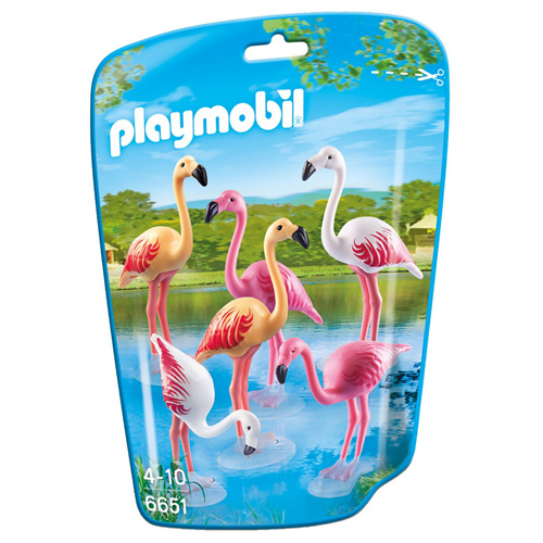 Hejno plameňáků Playmobil Zoo