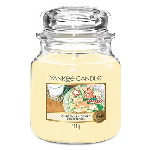 Svíčka ve skleněné dóze Yankee Candle Vánoční cukroví, 410 g
