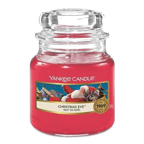 Svíčka ve skleněné dóze Yankee Candle Štědrý večer, 104 g