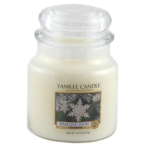 Svíčka ve skleněné dóze Yankee Candle Třpytivý sníh, 410 g