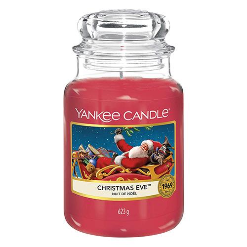 Svíčka ve skleněné dóze Yankee Candle Štědrý večer, 623 g